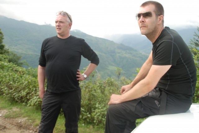 Rhod with Greg Davies in Nepal