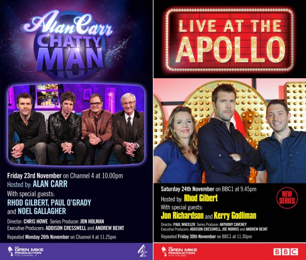 Chatty Man & Live at the Apollo press shots