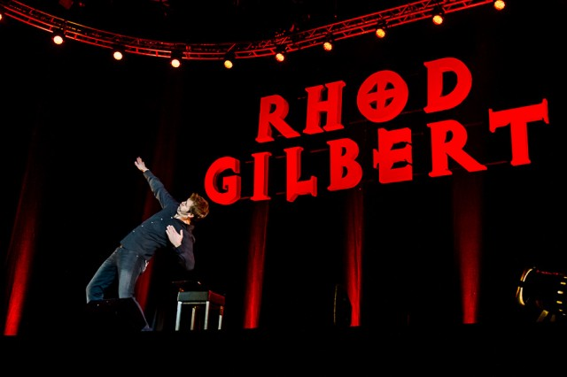 Live Rhod Gilbert name in lights