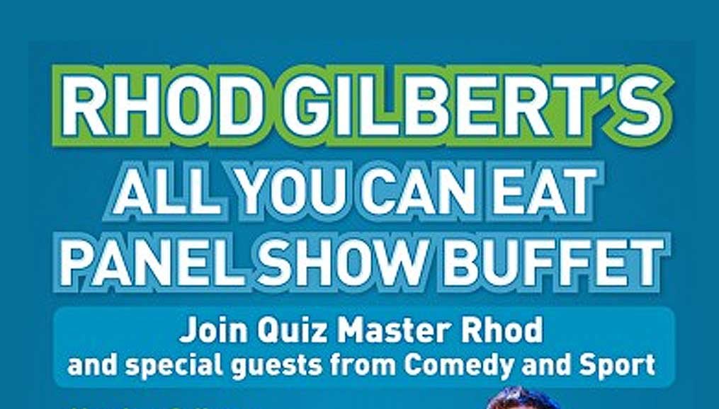 All you can eat panel show buffet poster