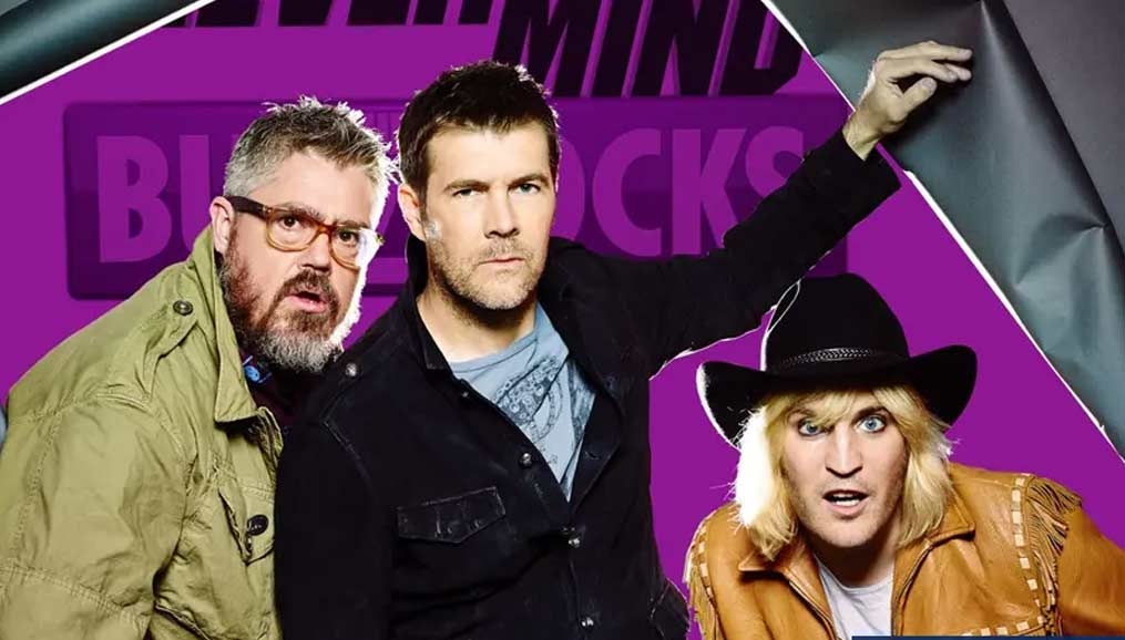 Nevermind the Buzzcocks press photo - Rhod with Phill Jupitus and Noel Fielding