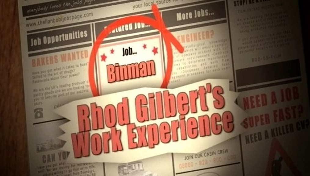 Rhod Gilbert work experience show credits